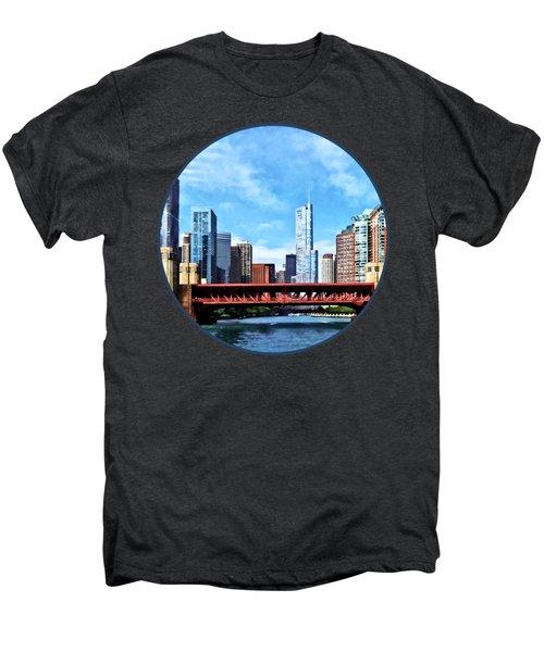 Chicago Il - Lake Shore Drive Bridge Men's Premium T-Shirt by Susan Savad