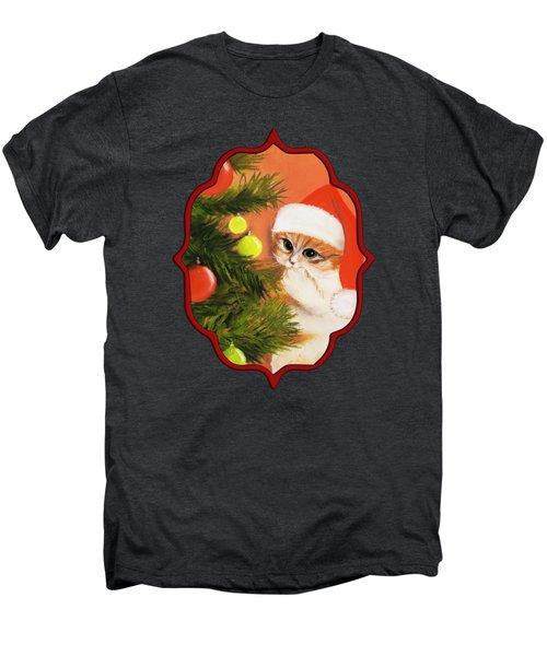 Christmas Kitty Men's Premium T-Shirt