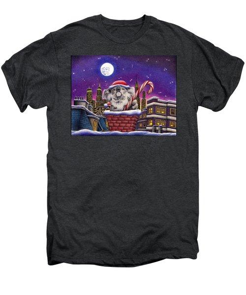 Christmas Koala In Chimney Men's Premium T-Shirt