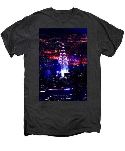 Chrysler Building At Night Men's Premium T-Shirt by Az Jackson