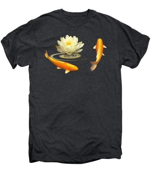 Circle Of Life - Koi Carp With Water Lily Men's Premium T-Shirt