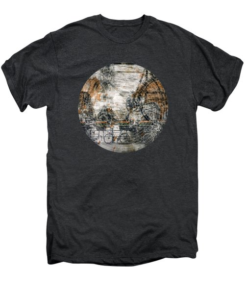 City-art Amsterdam Bicycles  Men's Premium T-Shirt by Melanie Viola