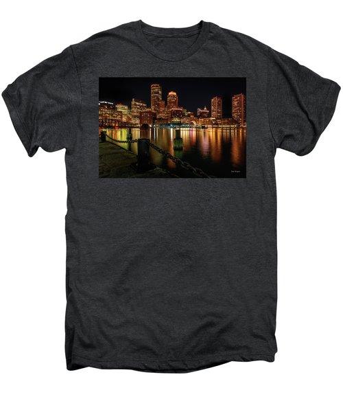 City With A Soul- Boston Harbor Men's Premium T-Shirt