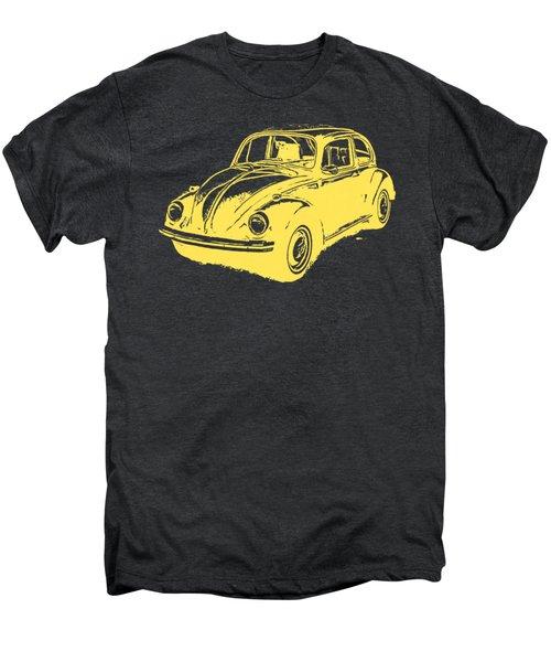 Classic Vw Beetle Tee Yellow Ink Men's Premium T-Shirt