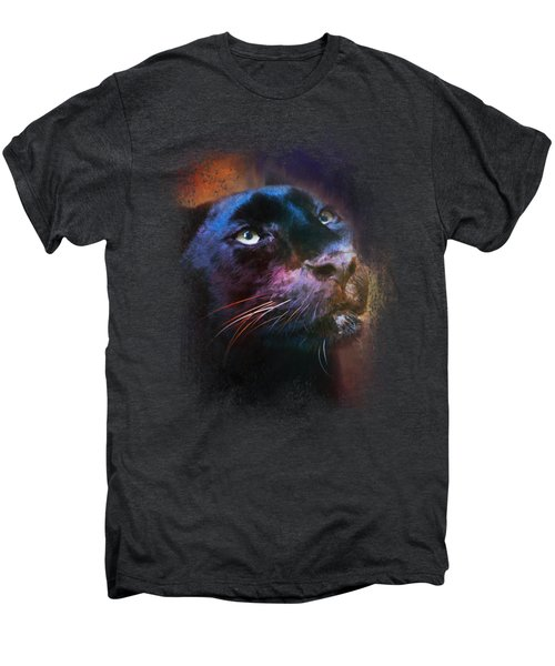 Colorful Expressions Black Leopard Men's Premium T-Shirt by Jai Johnson