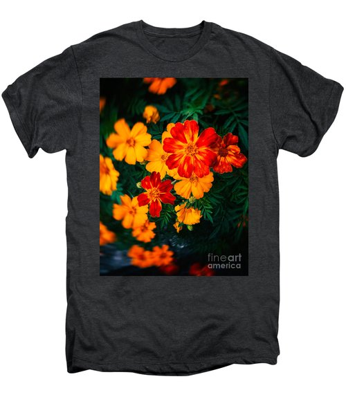 Men's Premium T-Shirt featuring the photograph Colorful Flowers by Silvia Ganora