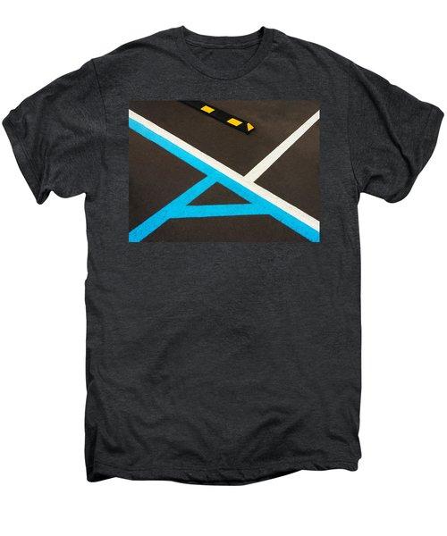 Colorful Geometry In The Parking Lot Men's Premium T-Shirt