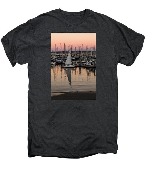 Coming Into The Harbor Men's Premium T-Shirt by Lora Lee Chapman