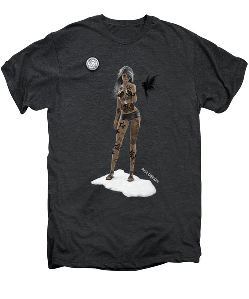 Cool 3d Girl With Bling And Tattoos In Black Men's Premium T-Shirt
