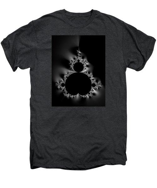 Cool Black And White Mandelbrot Set Men's Premium T-Shirt