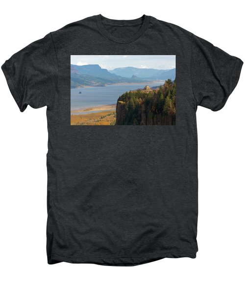 Crown Point On Columbia River Gorge Men's Premium T-Shirt