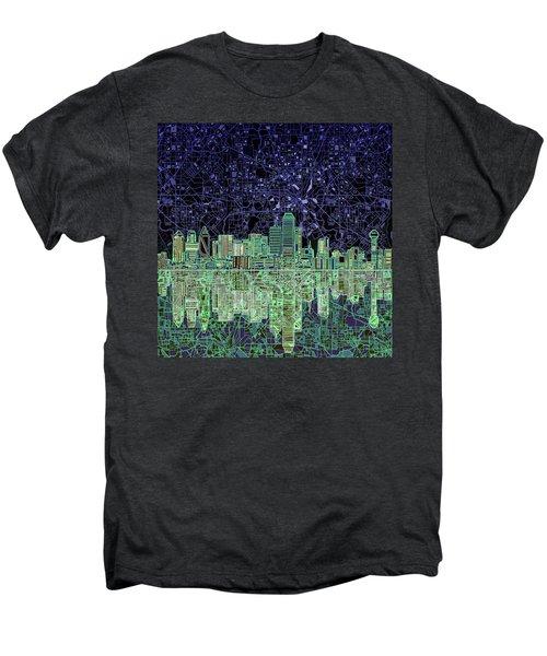 Dallas Skyline Abstract 4 Men's Premium T-Shirt