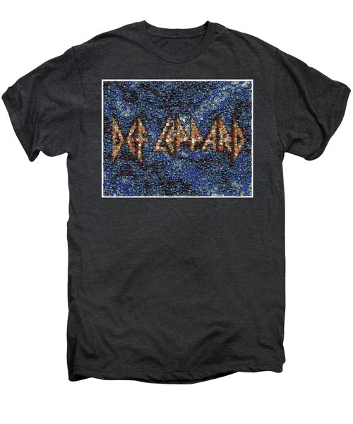 Def Leppard Albums Mosaic Men's Premium T-Shirt by Paul Van Scott