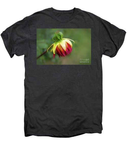 Demure Dahlia Bud Men's Premium T-Shirt