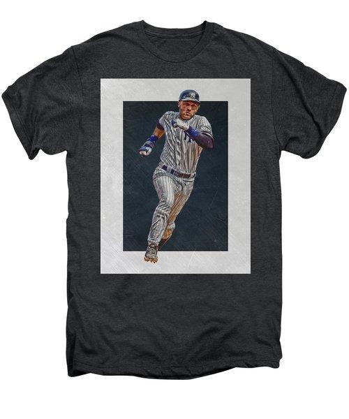 Derek Jeter New York Yankees Art 3 Men's Premium T-Shirt by Joe Hamilton