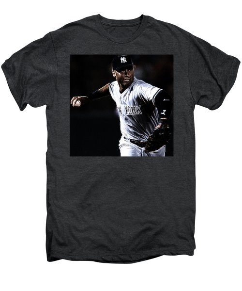 Derek Jeter Men's Premium T-Shirt by Paul Ward