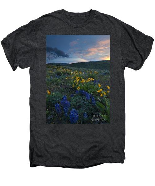 Desert Wildflower Sunset Men's Premium T-Shirt