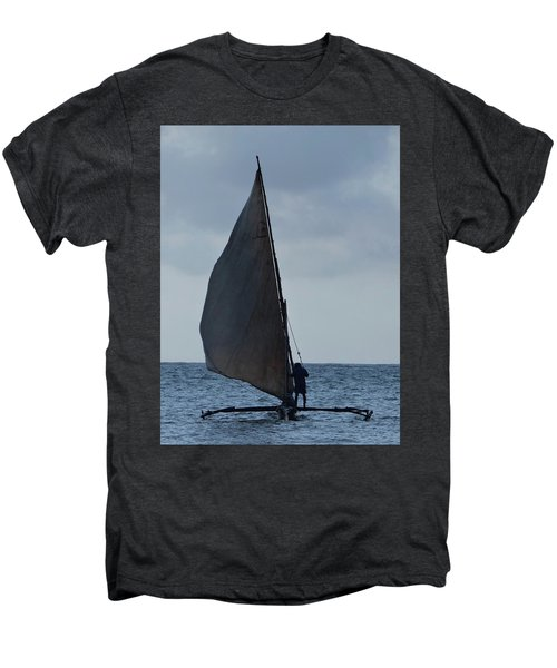 Dhow Wooden Boats In Sail Men's Premium T-Shirt by Exploramum Exploramum