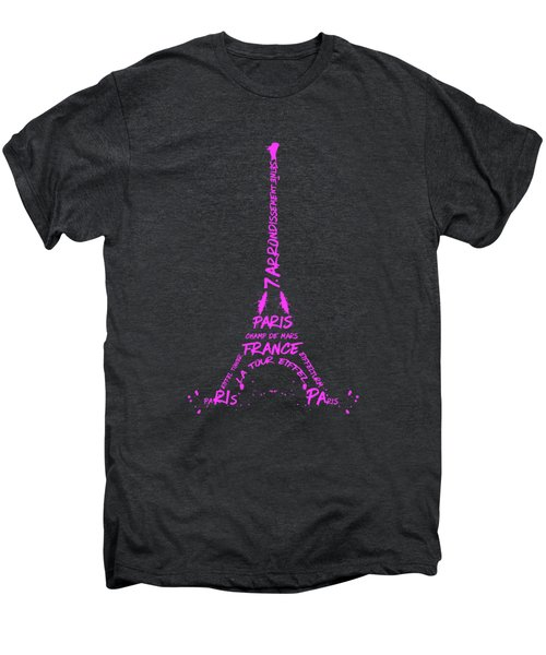 Digital-art Eiffel Tower Pink Men's Premium T-Shirt
