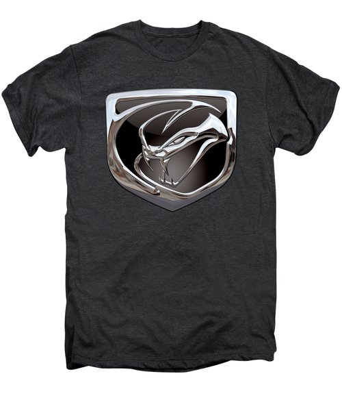 Dodge Viper - 3d Badge On Black Men's Premium T-Shirt