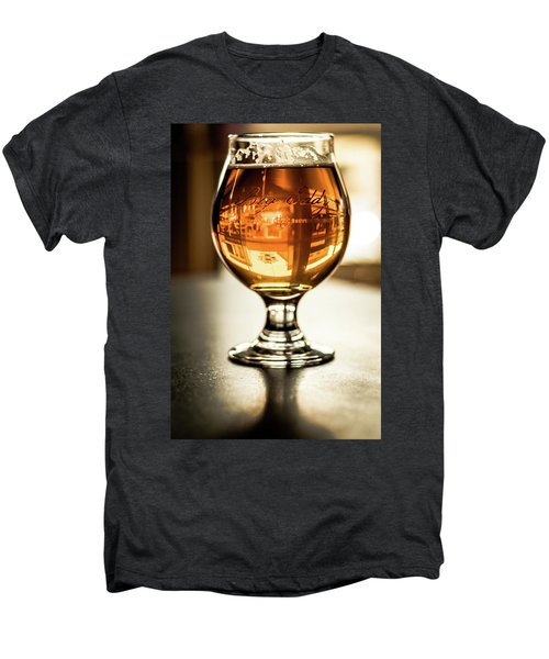 Downtown Waukesha Through A Glass Of Beer At Bernie's Taproom Men's Premium T-Shirt