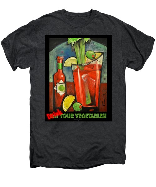Drink Your Vegetables Poster Men's Premium T-Shirt by Tim Nyberg