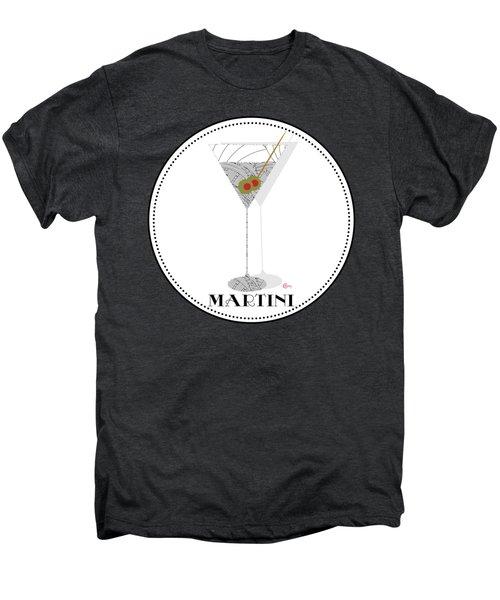 Dry Martini Cocktail Pop Art Deco Men's Premium T-Shirt