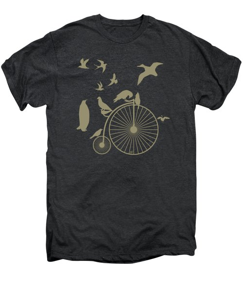 Dude The Birds Are Flocking Tan Transparent Background Men's Premium T-Shirt