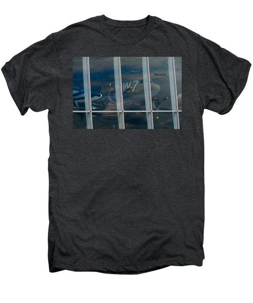 Men's Premium T-Shirt featuring the photograph Duxford Dakota Daydream by Gary Eason