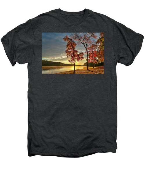 East Texas Autumn Sunrise At The Lake Men's Premium T-Shirt