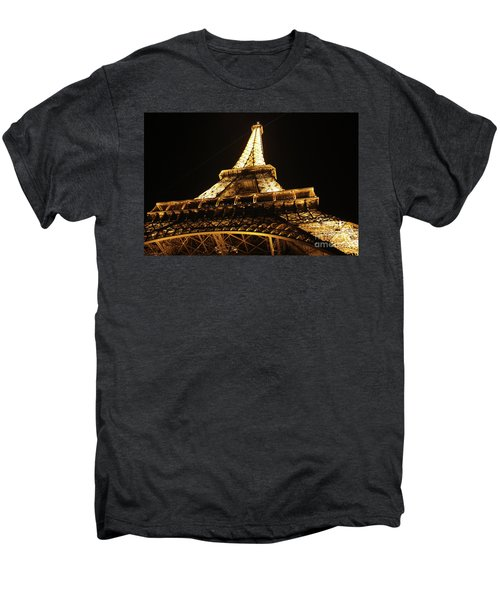 Men's Premium T-Shirt featuring the photograph Eiffel Tower At Night by MGL Meiklejohn Graphics Licensing
