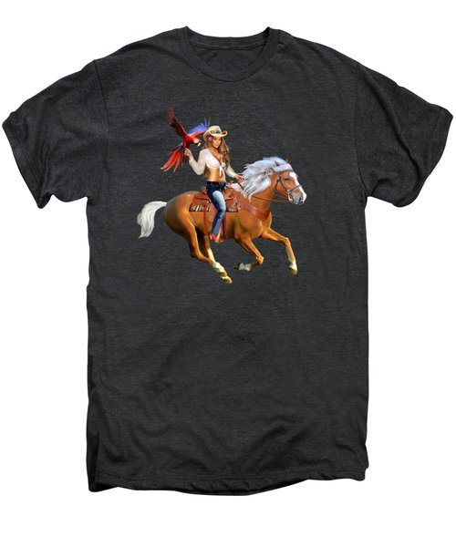 Enchanted Jungle Rider Men's Premium T-Shirt by Glenn Holbrook