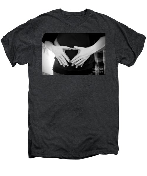 Expecting Love Men's Premium T-Shirt by Peggy Hughes