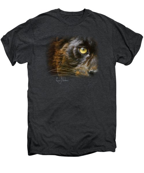 Eye Of The Panther Men's Premium T-Shirt by Lucie Bilodeau