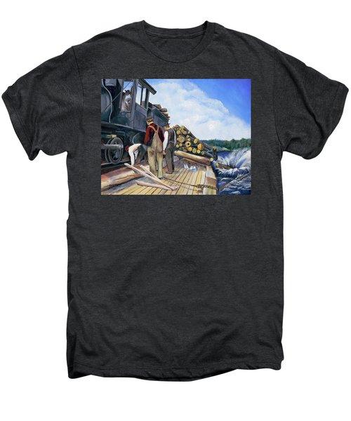 Fall Lake Train Men's Premium T-Shirt