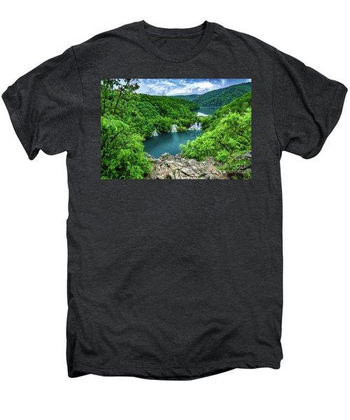 Falls From Above - Plitvice Lakes National Park, Croatia Men's Premium T-Shirt