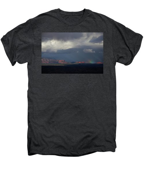 Fat Ground Rainbow, Red Rocks Sedona Men's Premium T-Shirt