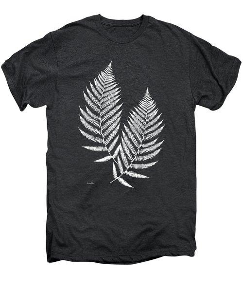 Fern Pattern Black And White Men's Premium T-Shirt
