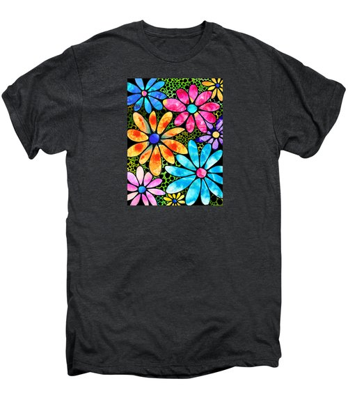 Floral Art - Big Flower Love - Sharon Cummings Men's Premium T-Shirt