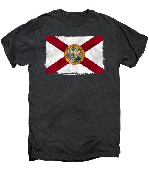 Florida Flag Men's Premium T-Shirt by World Art Prints And Designs