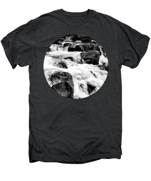 Flow, Black And White Men's Premium T-Shirt