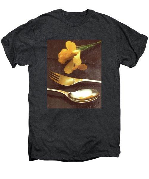 Flowers On Slate Variation 3 Men's Premium T-Shirt by Jon Delorme