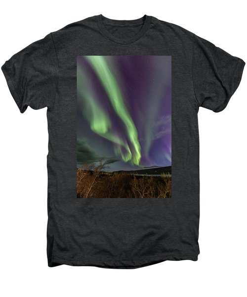 Flowing Aurora Men's Premium T-Shirt