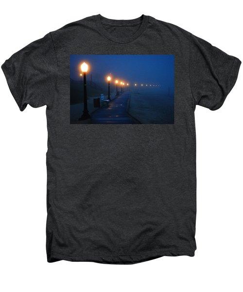 Foggy Boardwalk Blues Men's Premium T-Shirt by Bill Pevlor