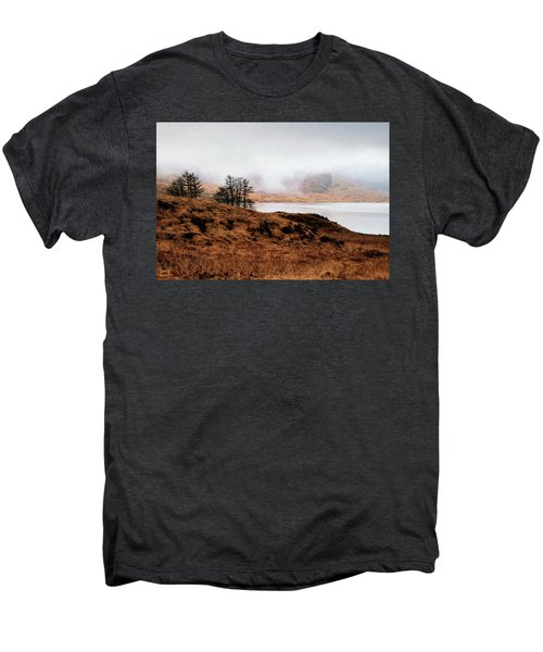 Foggy Day At Loch Arklet Men's Premium T-Shirt by Jeremy Lavender Photography