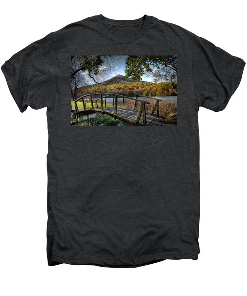 Foot Bridge Men's Premium T-Shirt by Todd Hostetter