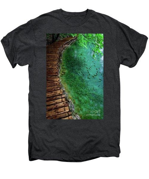 Footpaths And Fish - Plitvice Lakes National Park, Croatia Men's Premium T-Shirt