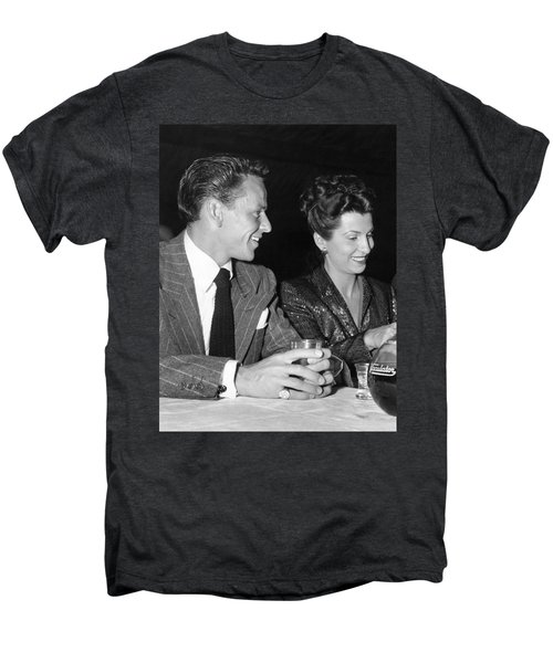 Frank Sinatra And Nancy Men's Premium T-Shirt by Underwood Archives