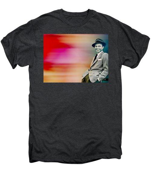 Men's Premium T-Shirt featuring the digital art Frank Sinatra by Marvin Blaine