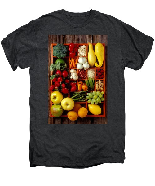 Fruits And Vegetables In Compartments Men's Premium T-Shirt by Garry Gay